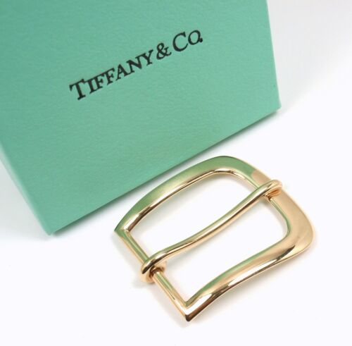"""Rare Vintage Tiffany & Co Makers 14K Yellow Gold Buckle for 1"""" Belt w/box"""