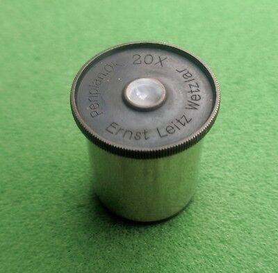 Ernst Leitz Vintage Microscope Eyepiece Periplan 20x Rms Tube Working