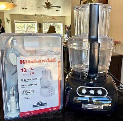 KitchenAid 12 Cup Ultra Food Processor KFPW7630BO - Onyx Black Bundle