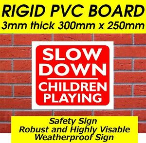 THINK ! SLOW DOWN CHILDREN PLAYING SAFETY/WARNING SIGN FARM SIGN SAFETY SIGN
