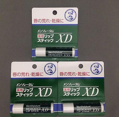 ROHTO Mentholatum MEDICATED LIP STICK XD balm 3pcs Heals Dry & Chapped lipstick