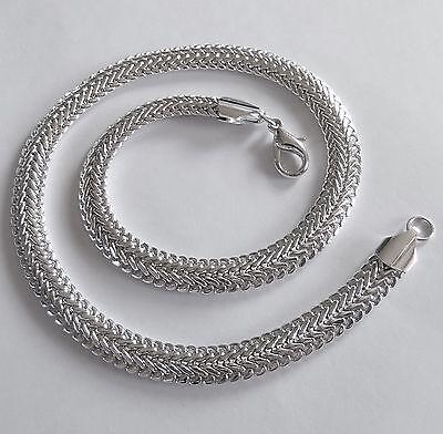 Luxus Silberkette Drachenmuster Silber Plated Königskette 45 cm Modeschmuck NEU