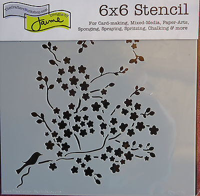Template 6x6 Mini Cherry Blossoms Stencil The Crafters Workshop Crafts TCW177s