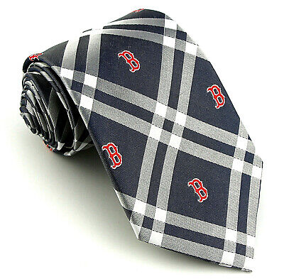 Boston Red Sox Men's Neck Tie Licensed MLB Baseball Team Sports Fan Blue Necktie Boston Red Sox Necktie