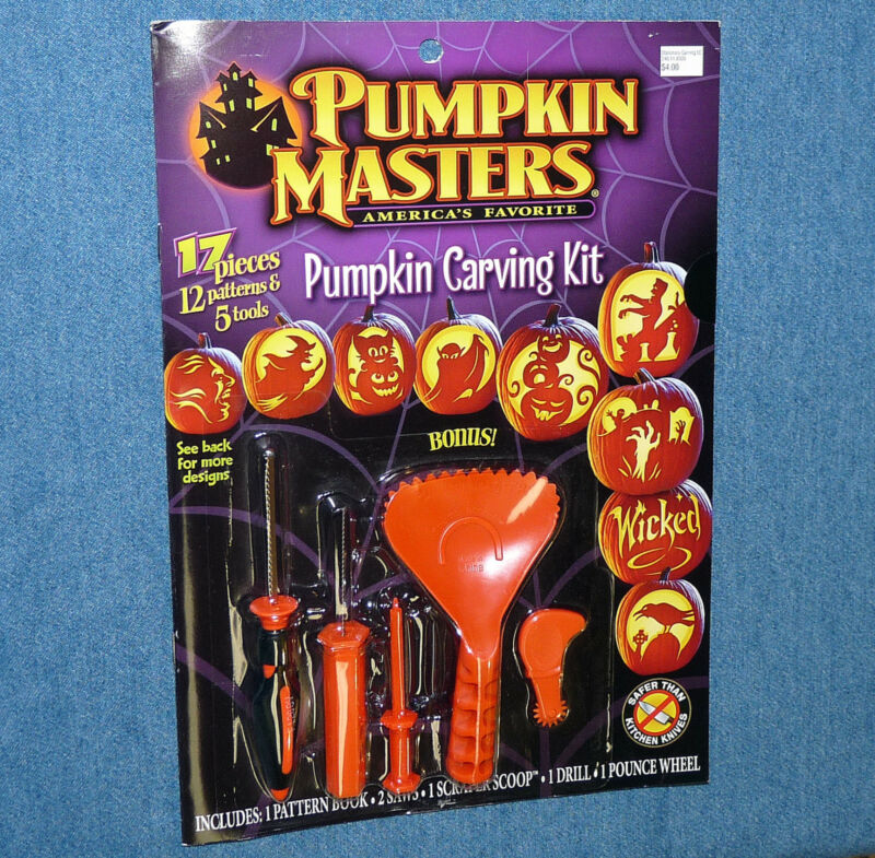 PUMPKIN MASTERS Halloween carving kit 2012 PM12-329 - quantity discounts - NEW