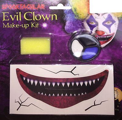 Halloween Lady Devil Makeup (Halloween & New Year Ladies Women Clown Witch Devil Makeup Set Fancy Dress)