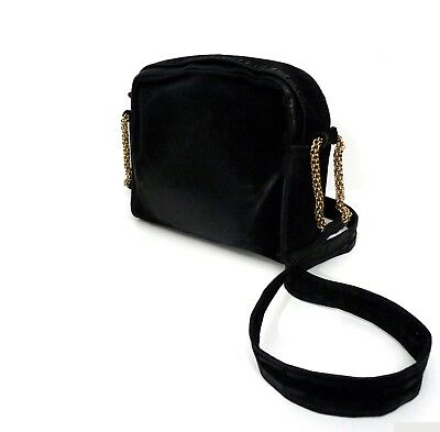 7b398ccccad8 PALOMA PICASSO Vintage Genuine Suede Black Distressed Shoulder Bag Handbag