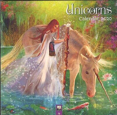 UNICORNS 2020 Wall Calendar, 12 Color Plates, Fantasy Art, Princesses, -