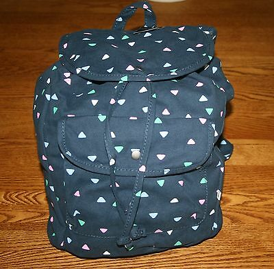 Abercrombie Kids Navy Blue Backpack Classic Girls book bag tote school back pack