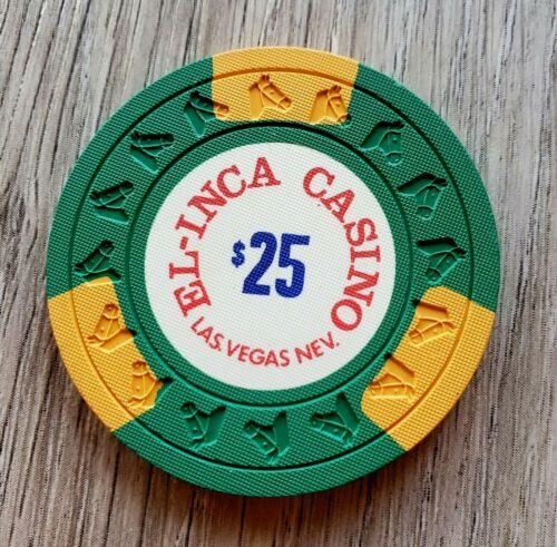 $25 Las Vegas El-Inca Casino Chip - Uncirculated