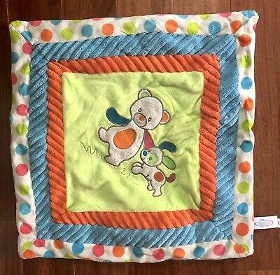 "Mary Meyer Confetti Cozy Baby Blanket Bear & Dog 16"" x 16"""