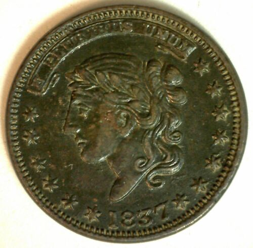 1837 Hard Times Token HTT Millions for Defense Not One Cent Nice One