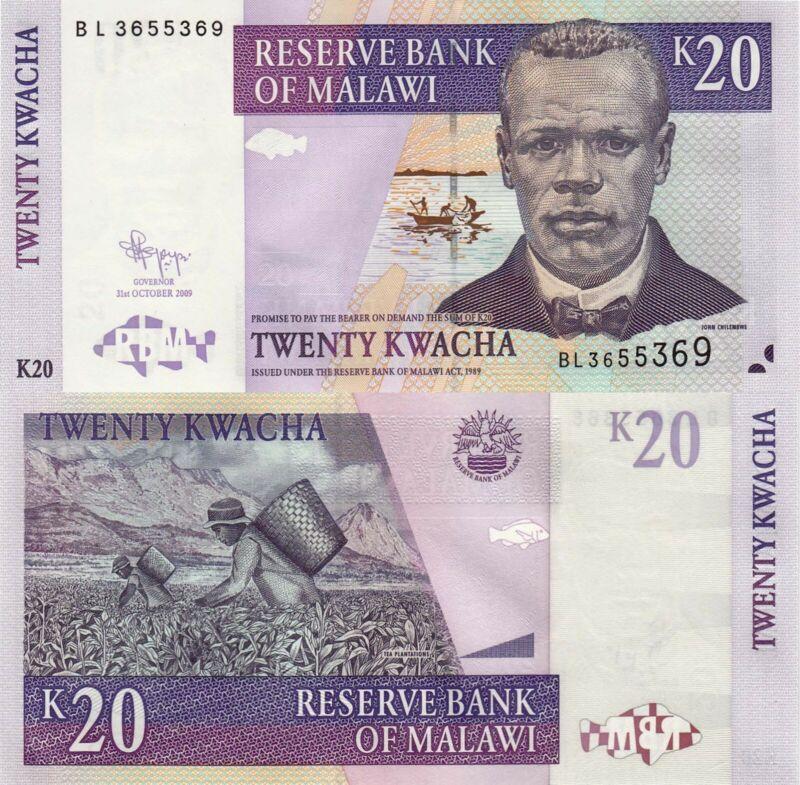 Malawi 20 Kwacha (31.10.2009) - 52e UNC
