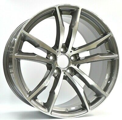 "20 x 10"" Car Wheels For BMW Offset 40/37 PCD 5x120 Set of 4 Gun Gray"