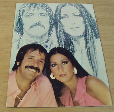 "1972-73 CONCERT Tour Program~""SONNY & CHER"" I've Got You, Babe~"