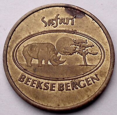Used, NETHERLANDS, BEEKSE BERGEN SAFARI Park Token 28mm 9g Brass H11.1 for sale  Shipping to Canada