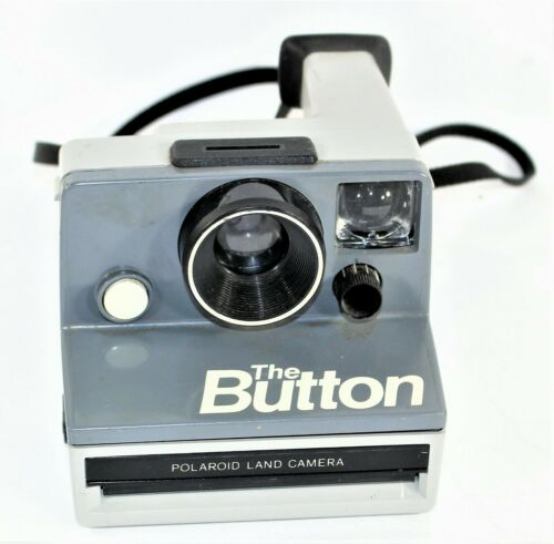 Vintage Polaroid THE BUTTON One Step Instant Film Camera Tested And Working