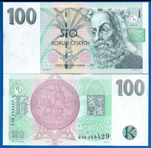 Czech Republic P-18 100 Korun Year 1997 King  Uncirculated Banknote