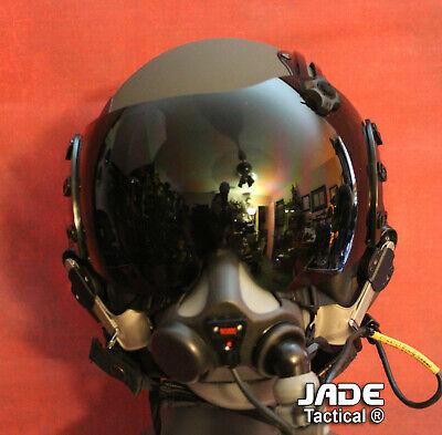 NEW HGU-GENTEX 68/P USA XL Jet Pilot Flight Helmet LW 20/P or 12/P Oxygen Mask