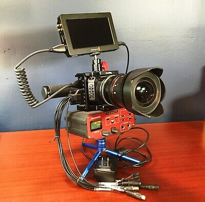 Blackmagic Design Micro Cinema Camera, Monitor, Cage, Lens and XLR Audio Adapter