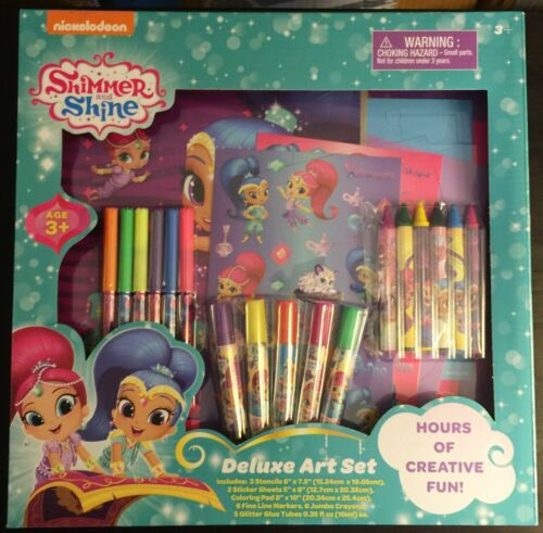 Shimmer and Shine Deluxe Art Set 2018 23 Pieces (BRAND NEW)