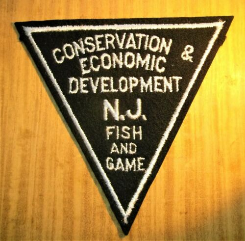 GEMSCO NOS Vintage Patch POLICE CONSEVATION FISH & GAME NJ Original 1963
