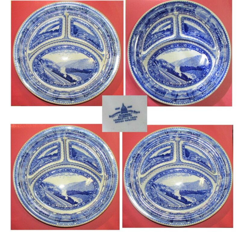 Vintage B&O RR Railroad Centenary Divided Plate Lamberton Scammells Only 2 Left