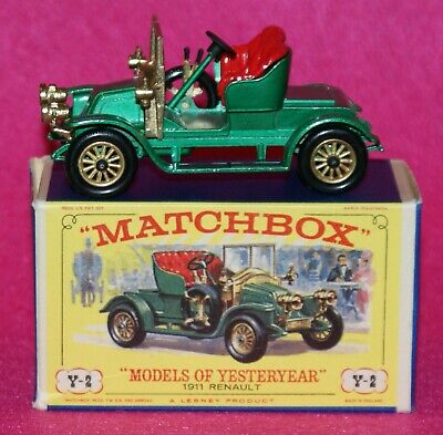 Matchbox Models of Yesteryear 1911 Renault Two Seater  MOY Y2-1 D3 Box