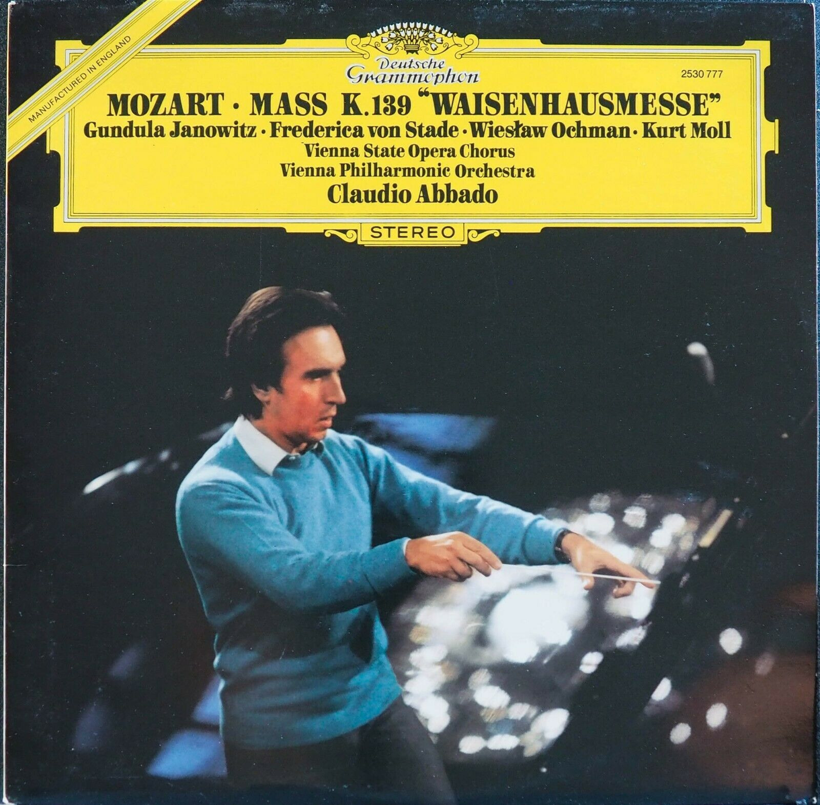 DG 2530 777 Mozart Missa Solemnis,K.139/VPO/Abbado,UK - $3.00