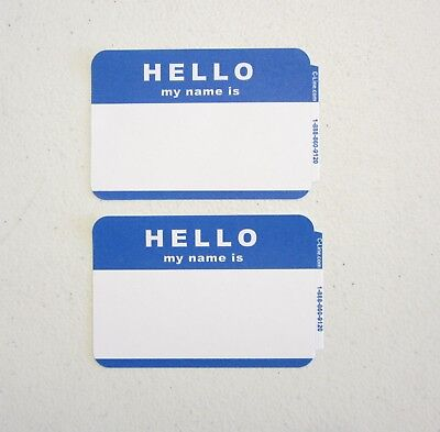 10 Blue Hello My Name Is Name Tags Labels Badges Stickers Peel Stick Adhesive