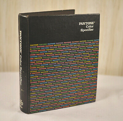 Vintage 1982 Pantone Color Specifier Book Pms Ink Chips Coated Uncoated