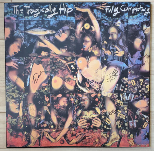 """Tragically Hip  Signed 1992 24""""x 24"""" Art Work For """"Fully Completely"""" LP"""