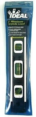 Ideal Tools 9 Torpedo Level 35-205 Rare Aluminum Black Pro Model Made In Usa