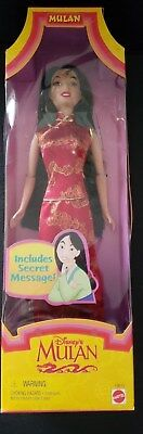 DISNEY'S MULAN Doll- Scarlett Dress with Gold Accents, Mattel 1997, New in Box