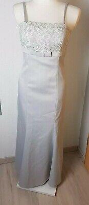 Apart Abendkleid Lang mit Spitze Schleppe Grau Gr. 34 festlich Brautjungfern  Empire-taille Brautkleid