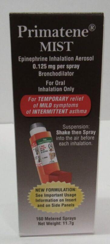 Primatene Mist Inhaler Asthma Temporary Relief 160 Metered Sprays🌟🔥✅