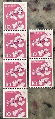 Mint JAPAN Stamps SC# 726 MNH OG -Coil of 4 and 2