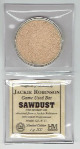 Jackie Robinson Highland Mint Game Used Bat Sawdust Limited Edition 1 Of 500