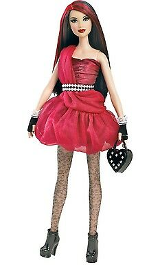 New 2011 Gothic Fallen Angel Stardoll By Barbie Red Dress Nrfb