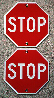 2 Stop Plastic Coroplast Signs 12x12 Octogan With Grommets