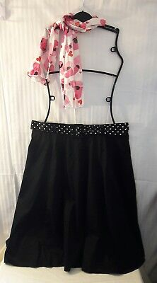 1950's Outfit Costume POODLE Type Skirt w/ Scarf Belt
