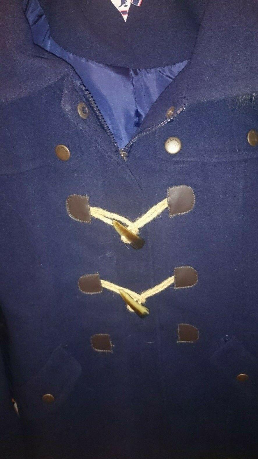 Kangol manteau duffle-coat t.34/36 neuf avec defaut [il manque un bouton]