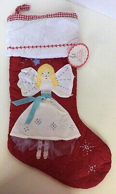 Pottery Barn Kids Christmas Holiday Angel Stocking New BLANK