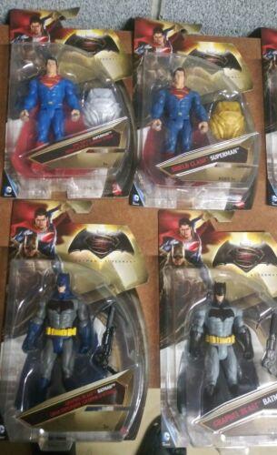 Lote de figuras de Batman V Superman de 6 (8) con variantes - Superman Batman Wonder Aquaman