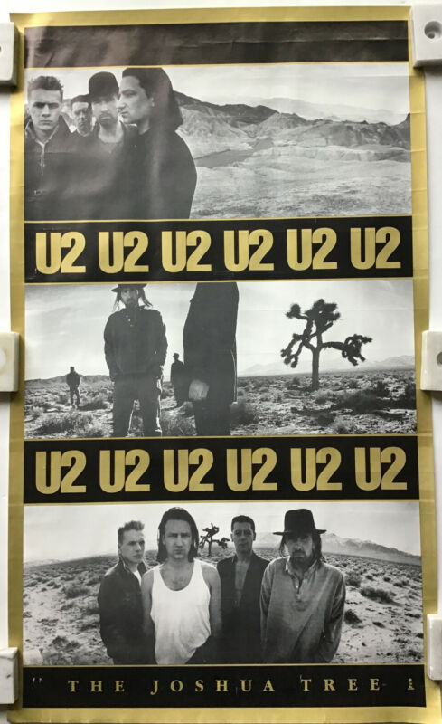 U2 The Joshua Tree Vintage Triptych Poster