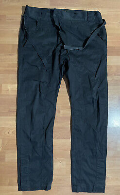 Alexandre Plokhov Black Low Crotch Cropped Utility Pants sz 52, US36