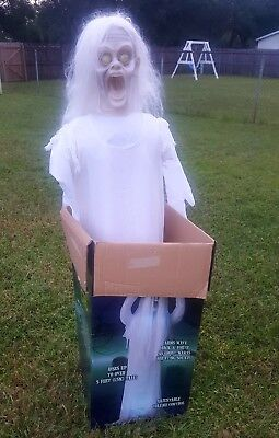 Animated 5' Rising Ghost Girl Halloween Prop - Spirit Store Exclusive In Box
