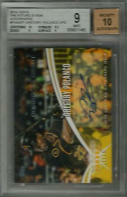 GREGORY POLANCO 2014 Topps GP1 ROOKIE AUTO CARD /25 SIGNED Pirates BGS MINT 9/10