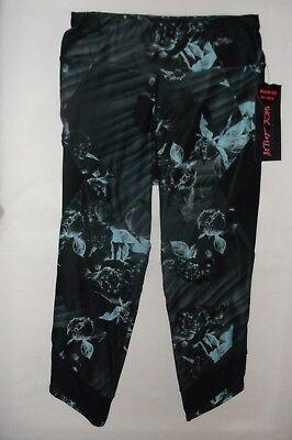 Betsey Johnson Performance mesh panel crop leggings S M floral nwt $58 retail