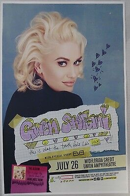 Gwen Stefani - July 26th, Tampa, FL * ORIGINAL CONCERT POSTER * rare